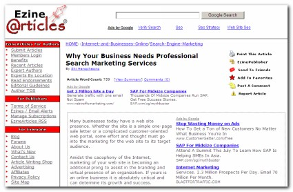 Professional Search Marketing Services - EzineArticles.com