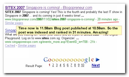 Ranked No. 9 in Google for the keywords sitex 2007
