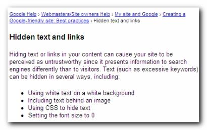 Hidden text
